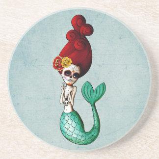 Day of The Dead Lovely Mermaid Girl Coaster