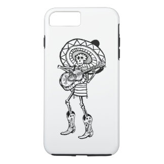 Day of The Dead Mariachi Band Member Skeleton iPhone 8 Plus/7 Plus Case