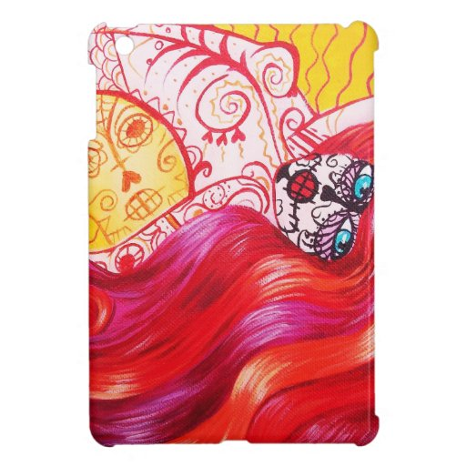 Day of the Dead Mermaid Whimsy iPad Mini Cases