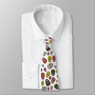 Day of the Dead Mexican Colourful Sugar Skull Tie