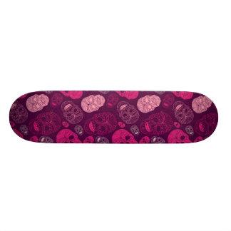 Day of the Dead Mosaic Art Pink Purple Skate Board Decks