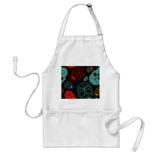 Day of the Dead Mosaic Art Red Blue Aprons