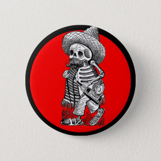 Day of the Dead motif 5 6 Cm Round Badge