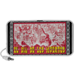 Day of the Dead motif 6 Laptop Speakers