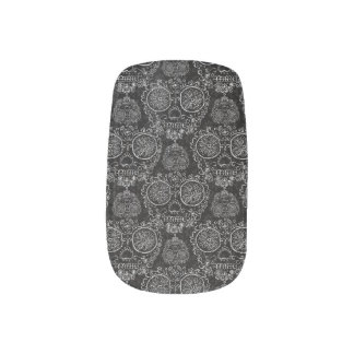 Day of the dead nails nail wrap