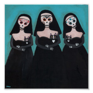 Day of the Dead Nuns Poster