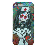 Day of the dead nurse painting barely there iPhone 6 case