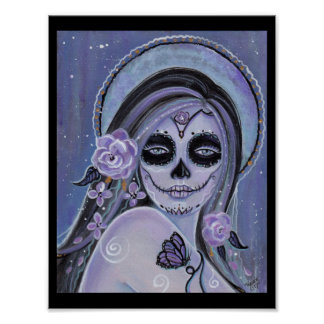 Day of the dead poster print by Renee Lavoie