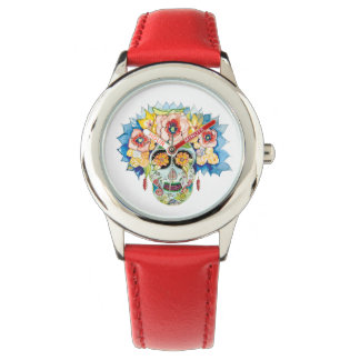 Day of the Dead Red Wristwatch