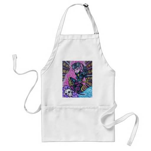 Day of the Dead Retro Mermaid Aprons