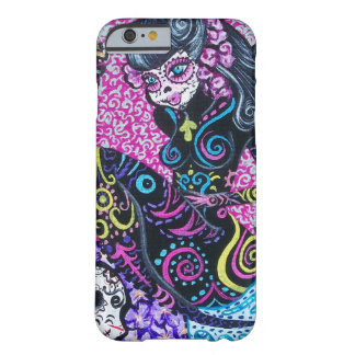 Day of the Dead Retro Mermaid Barely There iPhone 6 Case