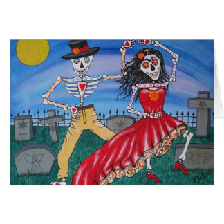 DAY OF THE DEAD  Salsa Dancers Card