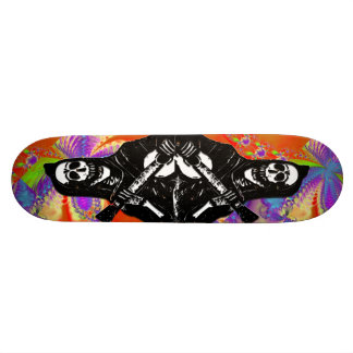 Day of the Dead Skeleton Skate Board