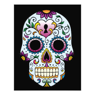 Day of the Dead Skull Blue Photo Print