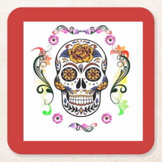 Day of the Dead-  Skull Coasters