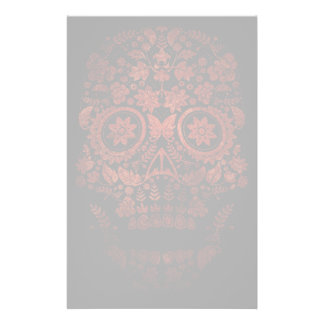Day of the dead skull customised stationery