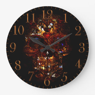 Day of the Dead Skull Death Mask Design Large Clock
