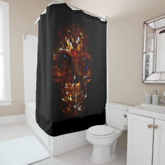 Day of the Dead Skull Death Mask Design Shower Curtain