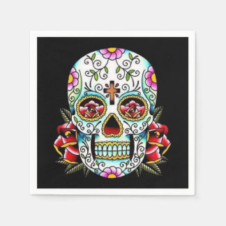 Day of the Dead Skull Disposable Serviette