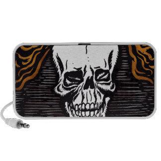 Day of the Dead Skull Grunge PC Speakers