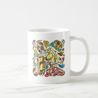 Day Of The Dead Skull Guitar Player Coffee Mug