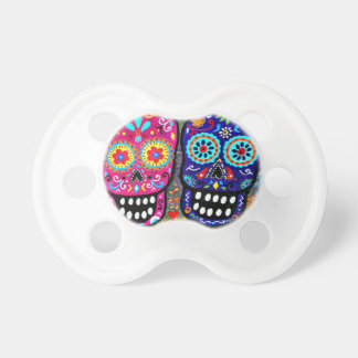 Day of the Dead Skull Heads Pacifier