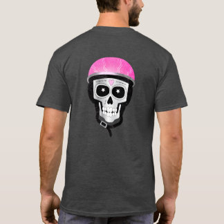 Day of the Dead Skull in Bike Helmet T-Shirt