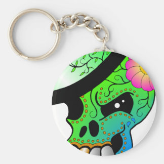 Day Of The Dead Skull Keychain