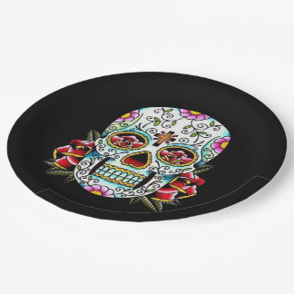 Day of the Dead Skull Paper Plate