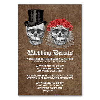 Day of the Dead Skull Wedding Enclosure Cards