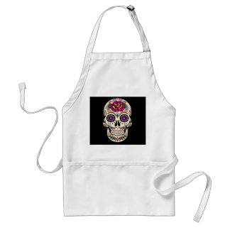 Day of the Dead Skull with Rose Apron