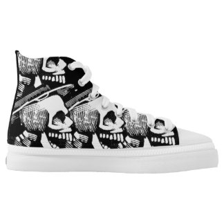Day of the Dead Skulls High Top Shoes Printed Shoes