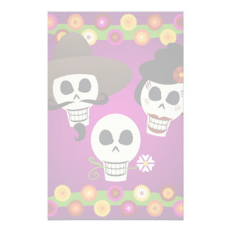 Day Of The Dead Skulls Stationery Design