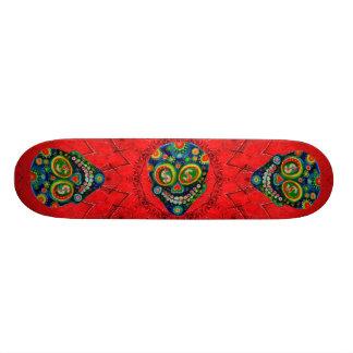 Day Of The Dead Sugar Skull Art Skate Board Deck