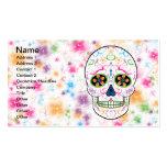 Day of the Dead Sugar Skull - Bright Multi Color Business Card