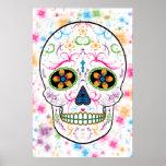 Day of the Dead Sugar Skull - Bright Multi Colour