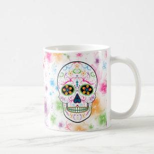 Day of the Dead Sugar Skull - Bright Multi Colour Coffee Mug