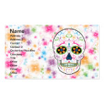 Day of the Dead Sugar Skull - Bright Multi Colour Pack Of Standard Business Cards