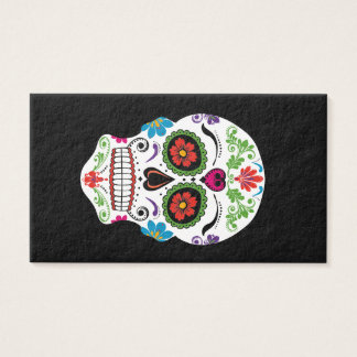DAY OF THE DEAD SUGAR SKULL BUSINESS CARD