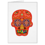 Day of the dead sugar skull cards