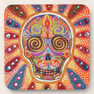Day of the Dead Sugar Skull Coasters Set of 6