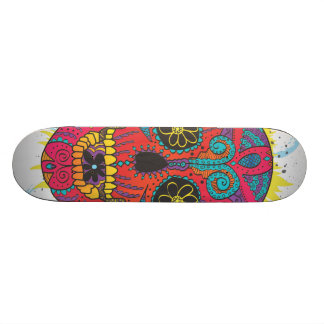 Day of The Dead Sugar Skull Comic Tattoo Design 21.3 Cm Mini Skateboard Deck