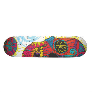 Day of The Dead Sugar Skull Comic Tattoo Design Skate Boards