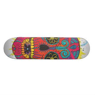 Day of The Dead Sugar Skull Comic Tattoo Design Skate Board Decks