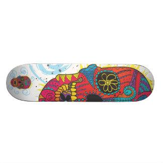 Day of The Dead Sugar Skull Comic Tattoo Design Custom Skateboard