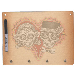 Day of the Dead Sugar Skull Couple Dry Erase Board