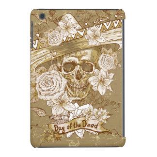 Day of the Dead Sugar Skull Flowers iPad Mini Cover