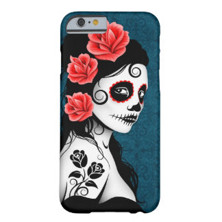 Day of the Dead Sugar Skull Girl - blue iPhone 6 Case