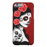 Day of the Dead Sugar Skull Girl – Deep Red iPhone 6 Case
