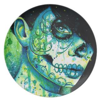 Day of the Dead Sugar Skull Girl: Do You Remember Dinner Plate